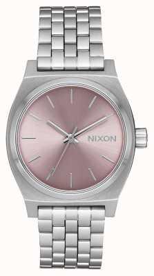 Nixon Кассир среднего звена   серебристый / бледно-лавандовый   браслет из нержавеющей стали   A1130-2878-00