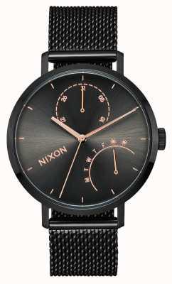 Nixon Сцепление | черный / бронза | черная стальная сетка IP | черный циферблат A1166-1420-00