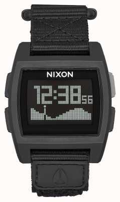 Nixon Базовый нейлон | все черное | цифровой | черный нейлоновый ремешок A1169-001-00