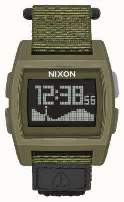 Nixon Базовый нейлон   избыток   цифровой   зеленый нейлоновый ремешок A1169-1085-00