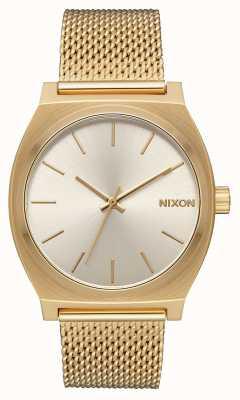 Nixon Счетчик времени миланский | все золото / крем | золото ip стальная сетка | кремовый циферблат A1187-2807-00