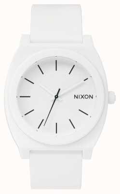 Nixon Счетчик времени р | матовый белый | белый силиконовый ремешок | белый циферблат A119-1030-00