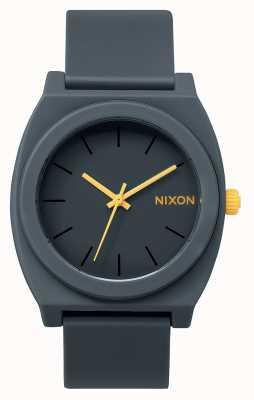 Nixon Счетчик времени р | матовый стальной серый | серый силиконовый ремешок | серый циферблат A119-1244-00