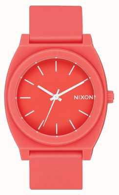 Nixon Счетчик времени р | матовый коралл | ремешок из кораллового силикона | коралловый циферблат A119-3013-00