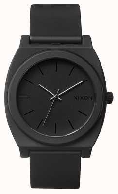 Nixon Счетчик времени р | матовый черный | черный силиконовый ремешок | черный циферблат A119-524-00