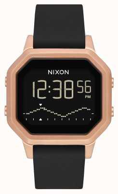 Nixon Сирена сс | розовое золото / черный | цифровой | черный силиконовый ремешок A1211-1098-00