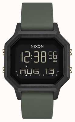 Nixon Сирена сс | черный / усталость | цифровой | черный силикон | A1211-178-00