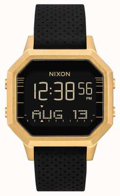 Nixon Сирена сс | золото / черный lh | цифровой | черный силиконовый ремешок A1211-2970-00