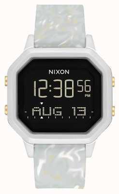 Nixon Сирена сс | серебристый / серый мрамор | цифровой | силиконовый ремешок цвета мрамора A1211-3413-00