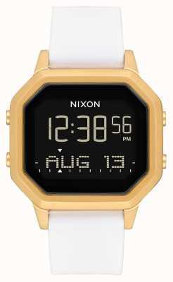 Nixon Сирена сс | золото / белый | цифровой | белый силиконовый ремешок A1211-508-00