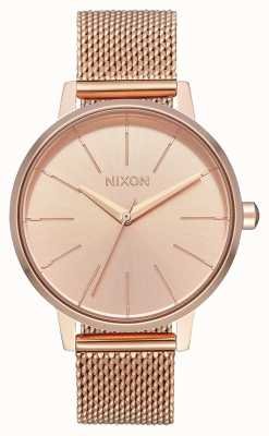 Nixon Kensington milanese | все розовое золото | сетка ip из розового золота | циферблат из розового золота A1229-897-00
