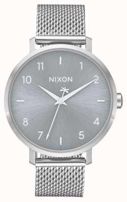 Nixon Стрелка миланская | все серебро | сетка из нержавеющей стали | серебряный циферблат A1238-1920-00