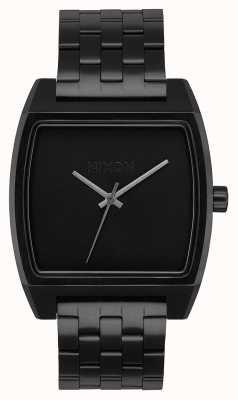 Nixon Отслеживание времени | все черное | черный стальной браслет ip | черный циферблат A1245-001-00