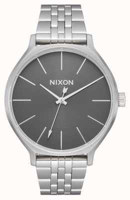 Nixon Клика | все серебро / серый | браслет из нержавеющей стали | серебряный циферблат A1249-2762-00