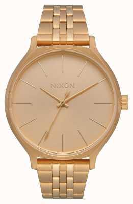Nixon Клика   все золото   золотой браслет из стали ip   золотой циферблат A1249-502-00