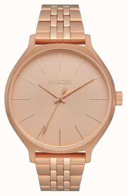 Nixon Клика | все розовое золото | браслет из розового золота с IP-покрытием | циферблат из розового золота A1249-897-00