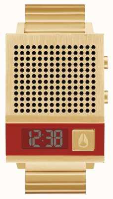 Nixon Дорк тоже | все золото | цифровой | золотой браслет из стали ip | говорящий A1266-502-00