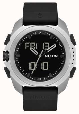 Nixon Рипли | серебристый / черный | цифровой | черный ремешок из тпу A1267-625-00