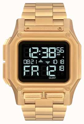 Nixon Regulus ss | все золото | цифровой | золотой браслет из стали ip | A1268-502-00