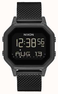Nixon Сирена миланская | все черное | цифровой | черная стальная сетка IP | A1272-001-00