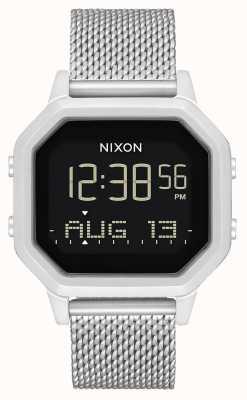 Nixon Сирена миланская | все серебро | цифровой | браслет из нержавеющей стали A1272-1920-00