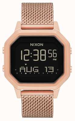Nixon Сирена миланская | все розовое золото | цифровой | стальная сетка из розового золота | A1272-897-00