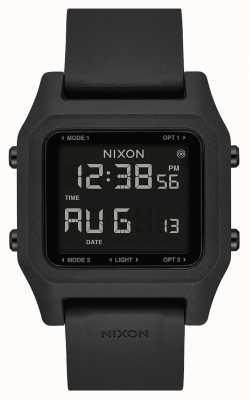 Nixon Скоба | черный | цифровой | черный силиконовый ремешок A1309-000-00