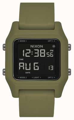 Nixon Скоба | оливковое | цифровой | силиконовый ремешок оливкового цвета A1309-333-00