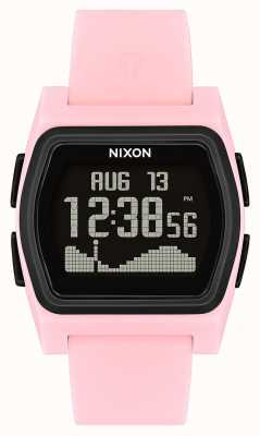 Nixon Соперник | розовый / черный | цифровой | розовый силиконовый ремешок A1236-2531-00