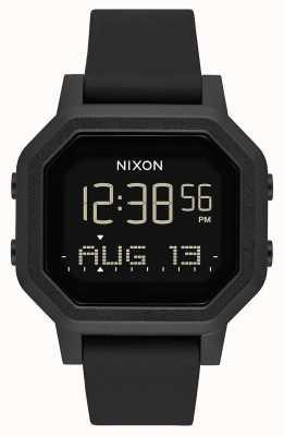 Nixon Сирена | все черное | цифровой | черный силиконовый ремешок A1311-001-00