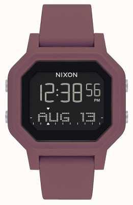 Nixon Сирена | бордовый | цифровой | бордовый силиконовый ремешок A1311-234-00