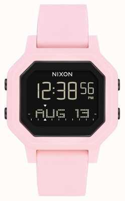 Nixon Сирена | бледно-розовый | цифровой | розовый силиконовый ремешок A1311-3154-00