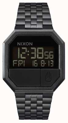 Nixon Повторный запуск | все черное | цифровой | черный ip стальной браслет A158-001-00