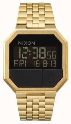Nixon Повторный запуск | все золото | цифровой | золотой ip стальной браслет A158-502-00