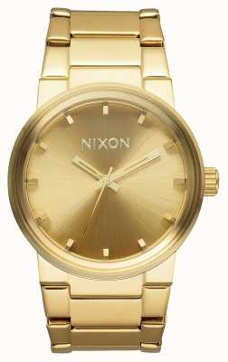 Nixon Пушка | все золото | золотой браслет из стали ip | золотой циферблат A160-502-00