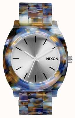 Nixon Счетчик времени ацетат | акварель ацетат | серебряный циферблат A327-1116-00