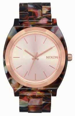 Nixon Счетчик времени ацетат | розовое золото / розовая черепаха | циферблат из розового золота A327-3233-00