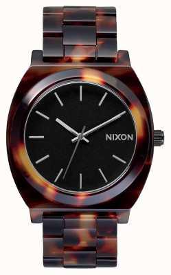 Nixon Счетчик времени ацетат | черепаха | черный циферблат A327-646-00