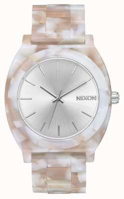 Nixon Счетчик времени ацетат | розовый / серебристый | серебряный циферблат A327-718-00