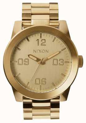 Nixon Капрал сс | все золото | золотой браслет из стали ip | золотой циферблат A346-502-00