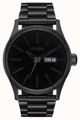 Nixon Sentry ss | все черный / черный | черный стальной браслет ip | черный циферблат A356-1147-00