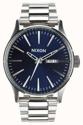 Nixon Sentry ss | синий солнечный луч | браслет из нержавеющей стали | синий циферблат A356-1258-00