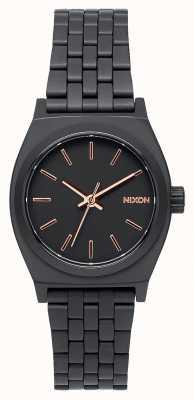 Nixon Кассирша | все черное / розовое золото | черный стальной браслет ip | черный циферблат A399-957-00