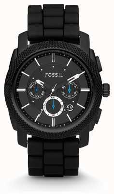 Fossil Мужские черные часы с хронографом FS4487