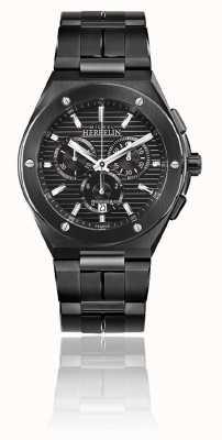 Michel Herbelin Кепка camarat chrono | браслет из черной стали | черный циферблат 37645/BN14