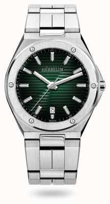 Michel Herbelin Колпачок камарат кварцевый | браслет из нержавеющей стали | зеленый циферблат 12245/B16