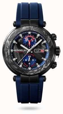 Michel Herbelin Карбон Ньюпорт регат | синий силиконовый ремешок | углеродный чехол 288/CN45CB