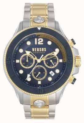 Versus Versace Мужская вольта против | двухцветный стальной браслет | синий циферблат VSPVV0520