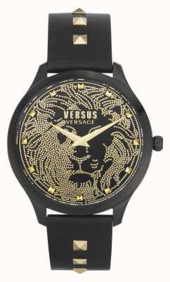 Versus Versace | женские | домус | черный кожаный ремешок | черный циферблат | VSPVQ0520