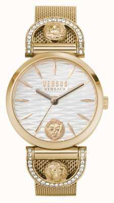 Versus Versace Женский iseo | сетчатый браслет из розового золота | белый циферблат VSPVP0720